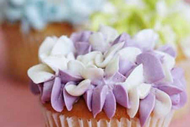 A floral creation. Photo Courtesy of The Cupcake Shoppe.