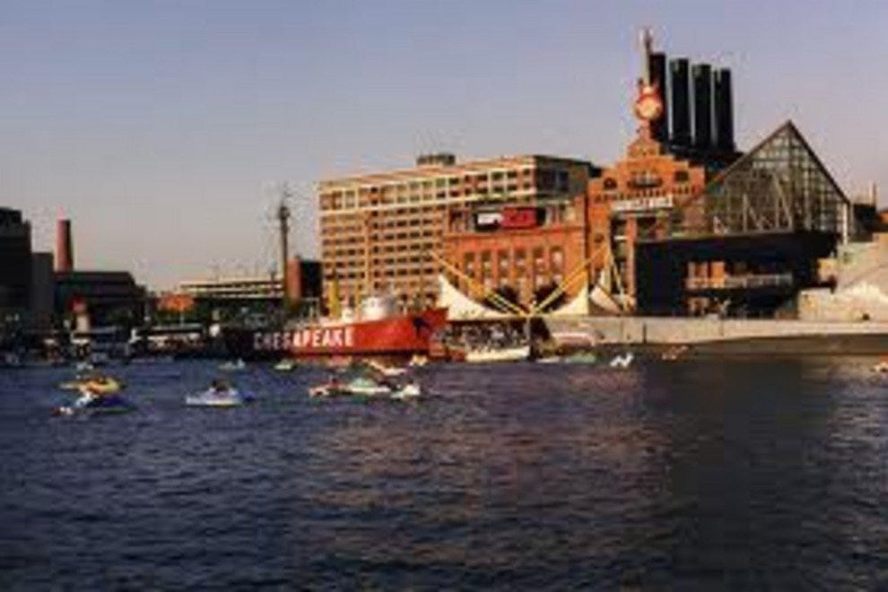 Recreation in Baltimore's Inner Harbor