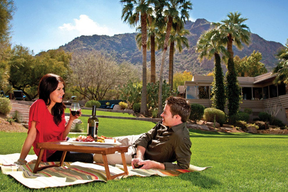 "Celebrate your romance with the ""Romance in Paradise"" package at Sanctuary on Camelback Mountain Resort and Spa."