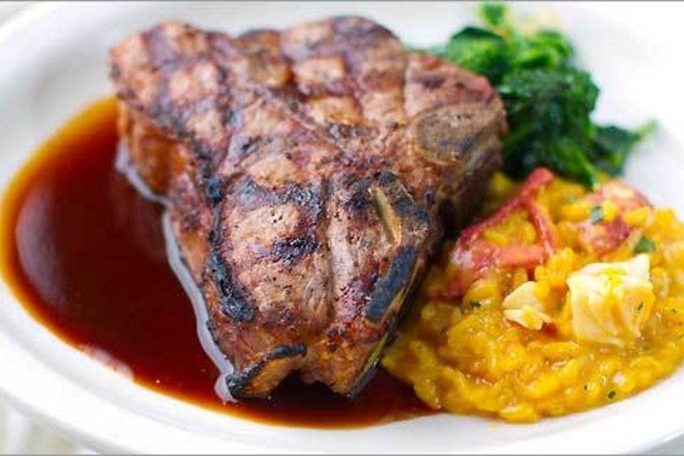 Veal Porterhouse with Lobster Risotto, a Prezza pleasure
