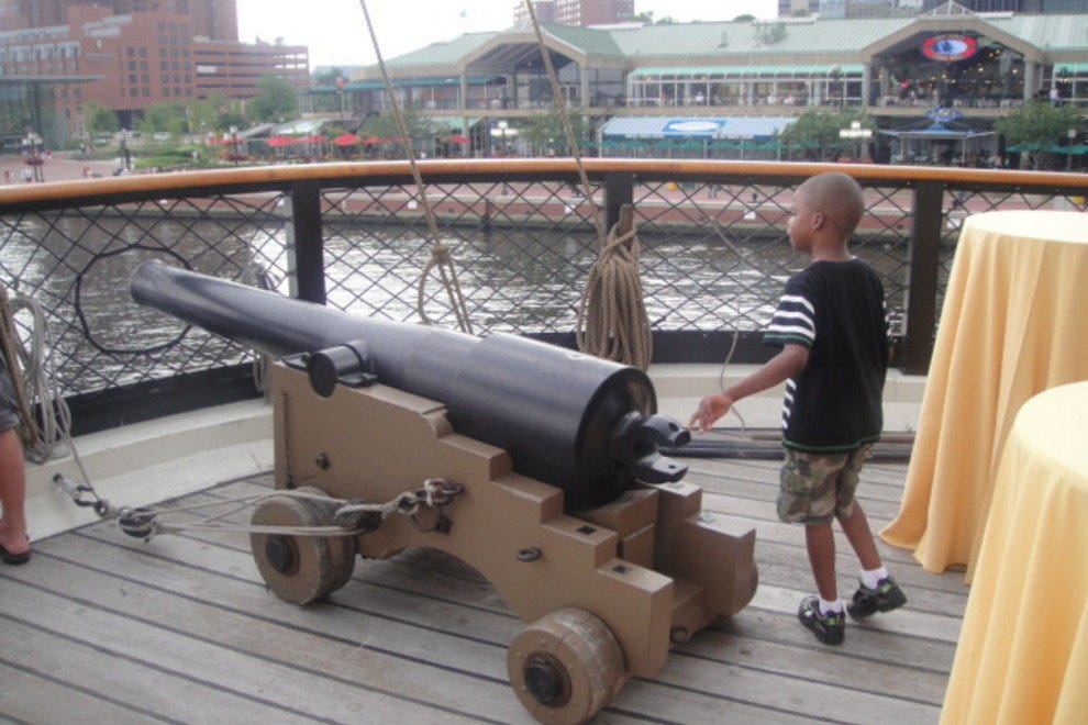The USS Constellation cannon
