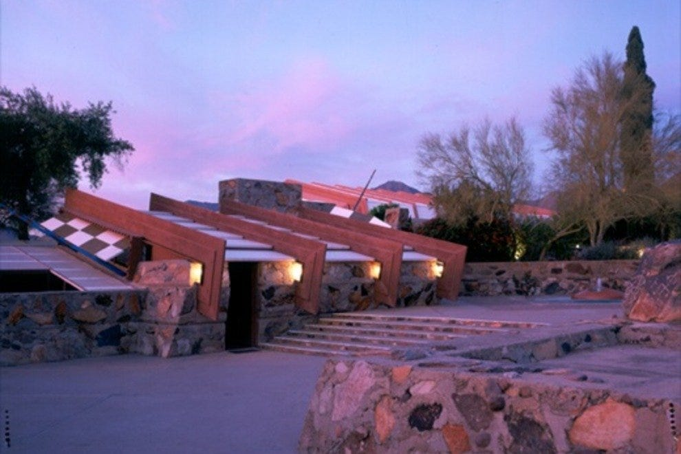 "Watch Taliesin West take on an ethereal, luminous quality with a ""Night Lights"" tour of Frank Lloyd Wright's desert masterpiece."