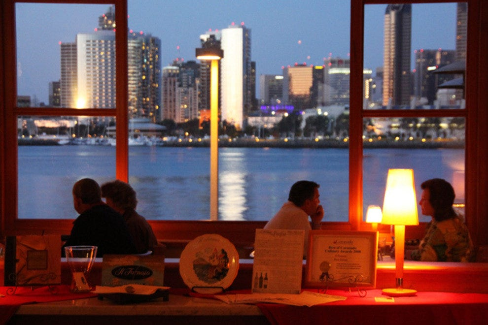 Coronado's Il Fornaio restaurant brings you the best in authentic Italian cuisine, with a magical backdrop of the San Diego skyline.