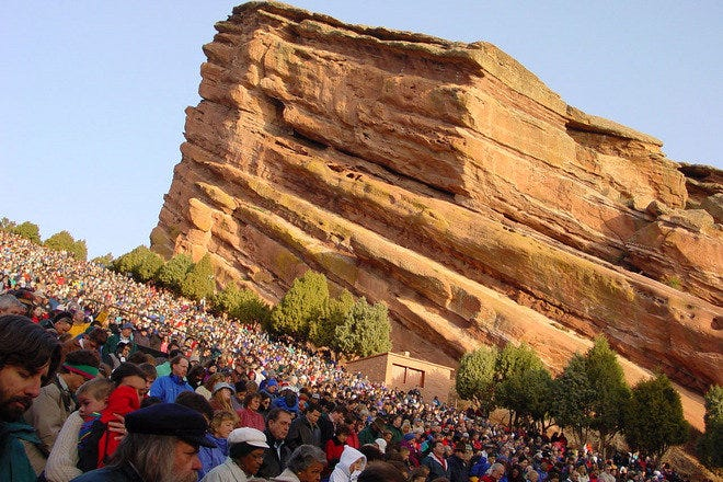 Creation Rock, Red Rocks Amphitheatre. Courtesy of the City and County of Denver, CO.