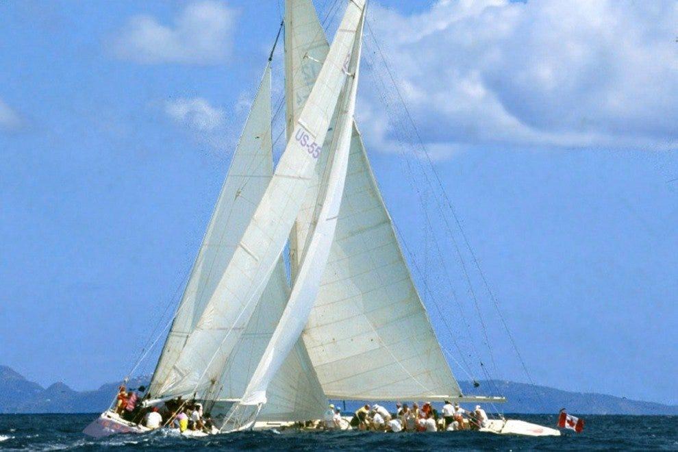 America's Cup Yacht Racing - St. Maarten 12 Metre Challenge