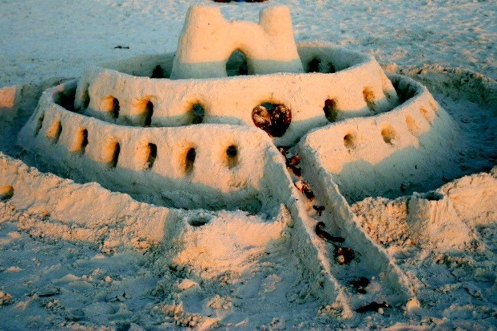 Marco Island sand castle