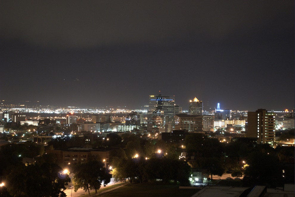 Downtown Salt Lake City at Night