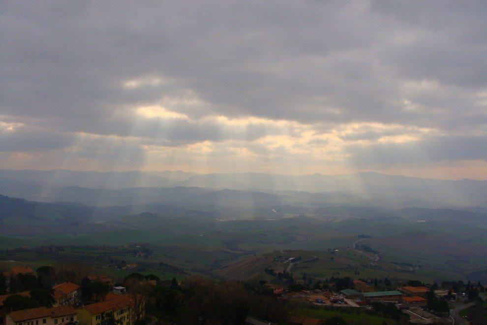 Hilltop looking over the valley from Volterra