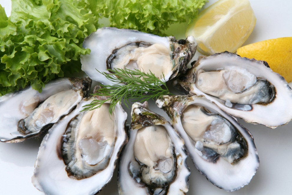 Fresh-shucked Oysters