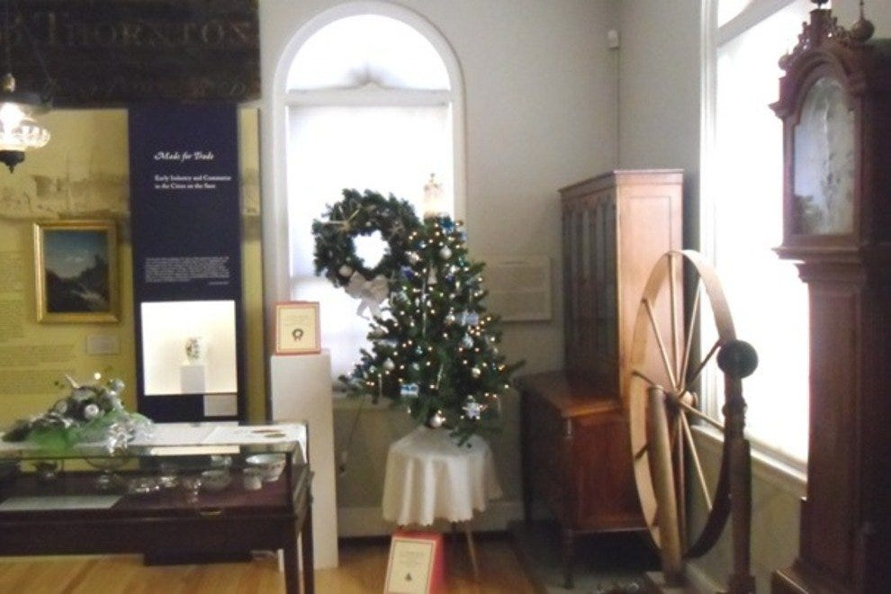 The Saco Museum decked out for the holidays.