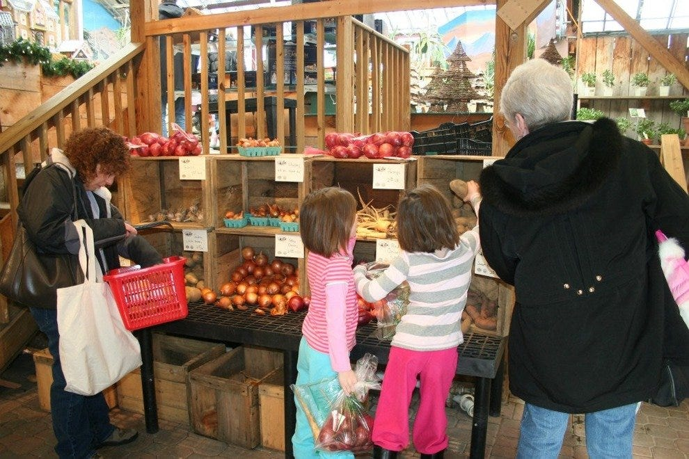 Shoppers at the Wayland Winter Market