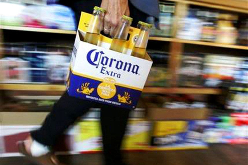 Corona beer, the most popular Mexican beer in both Mexico and the United States.