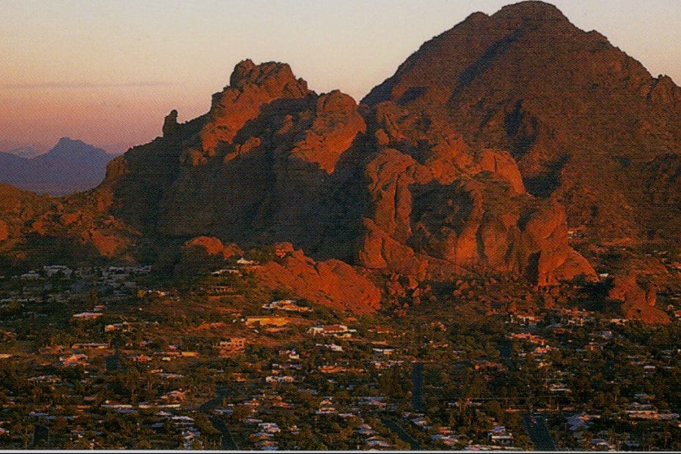 Enjoy sweeping views of the Phoenix Valley from iconic Camelback Mountain.