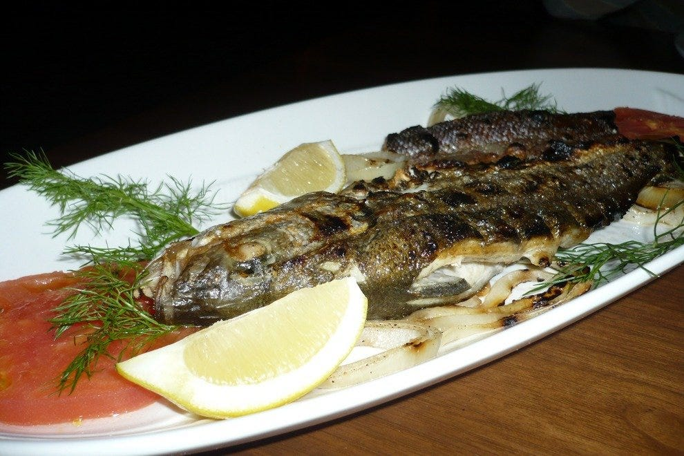 Whole Grilled Branzino Seafood Entree