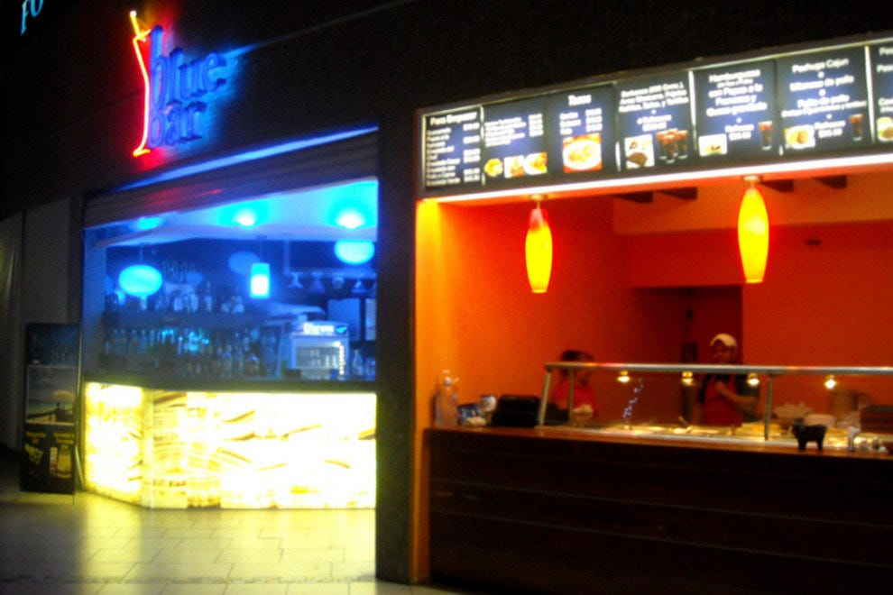 Blue Bar and it's sister company, a small Mexican take-out restaurant.