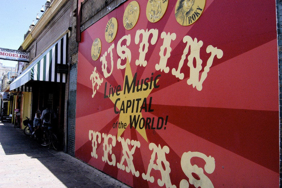 Austin Texas' Sixth Street is hub for live music and nightlife in the capital city
