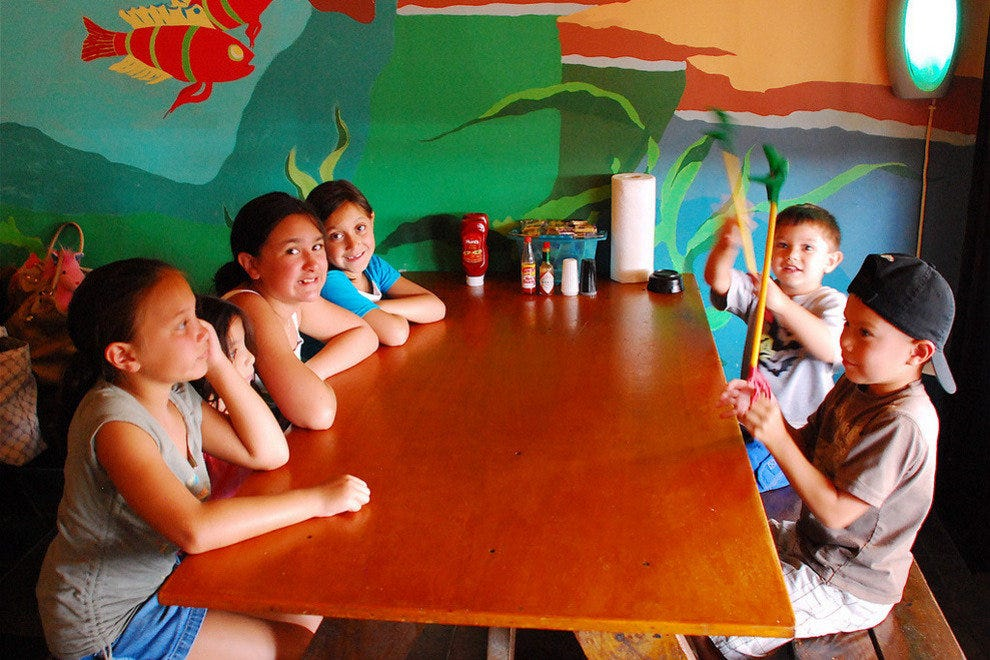 Kids love to eat together, at their very own table