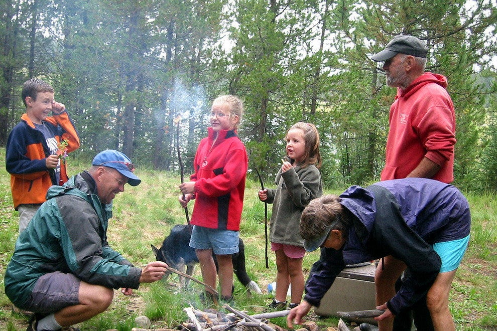 Kids love to learn and help build the fire