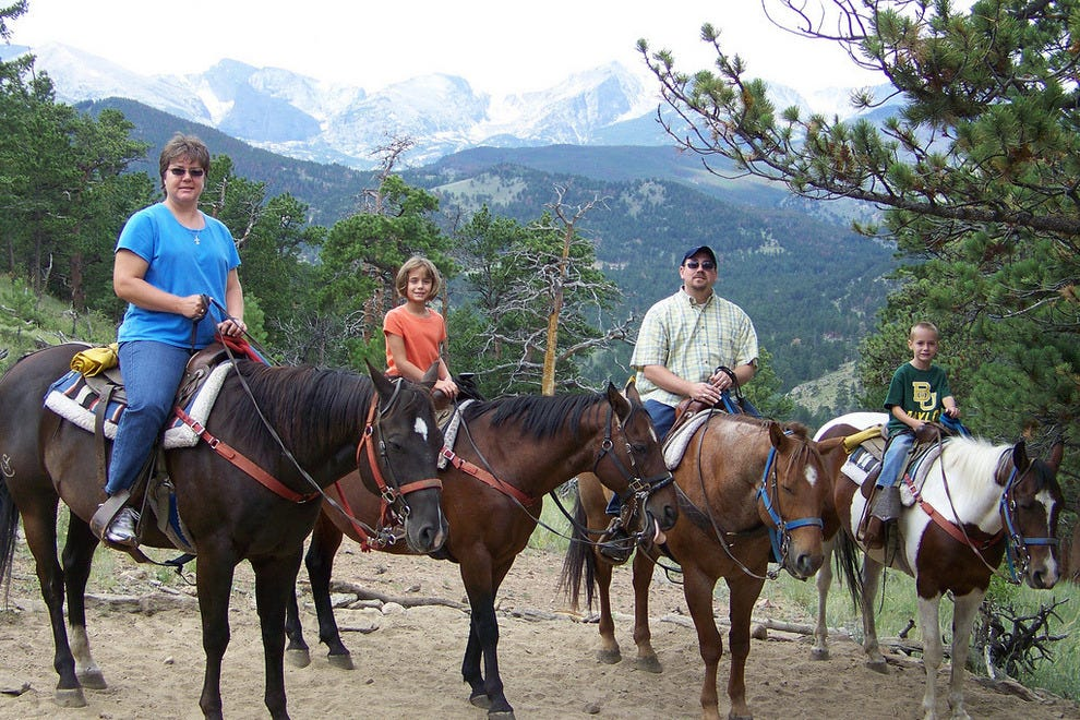Horseback trail rides are available in many vacation destinations