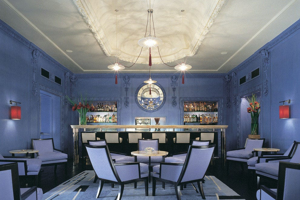 The Blue Bar at the Berkeley Hotel in London