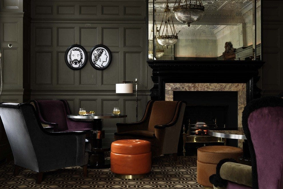 The sleek confines of the Coburg Bar in London's Connaught Hotel