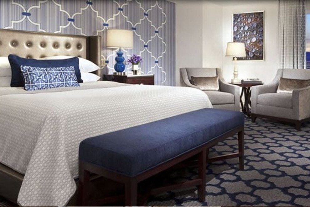 A remodeled room at Bellagio Las Vegas