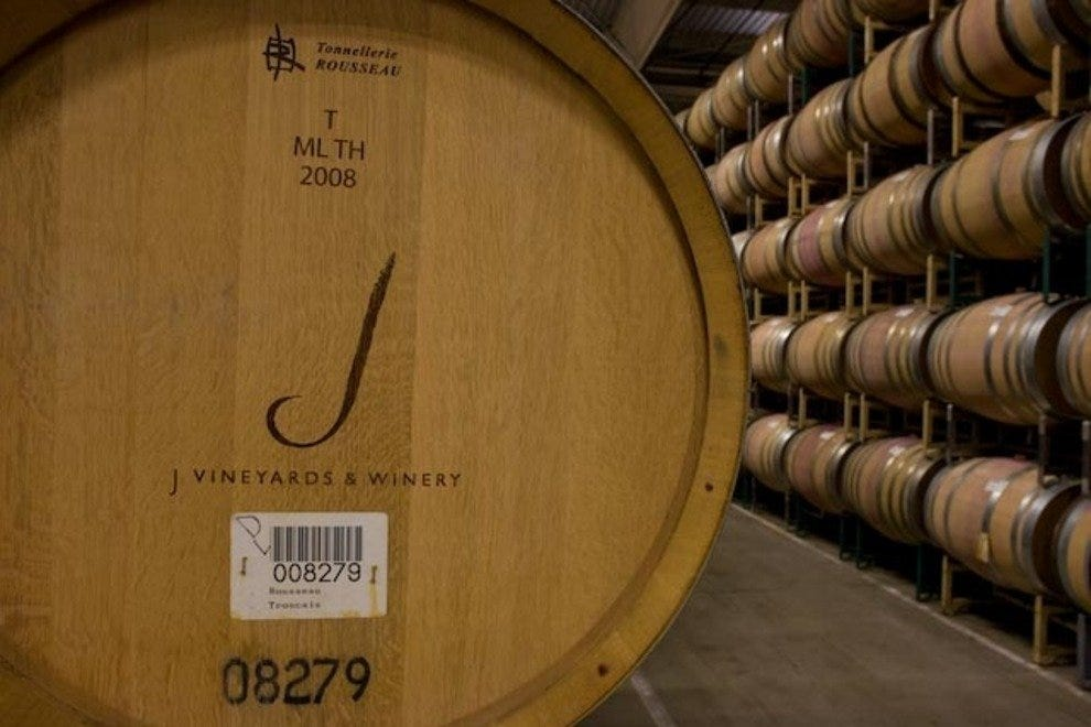 J Vineyards Barrel Room