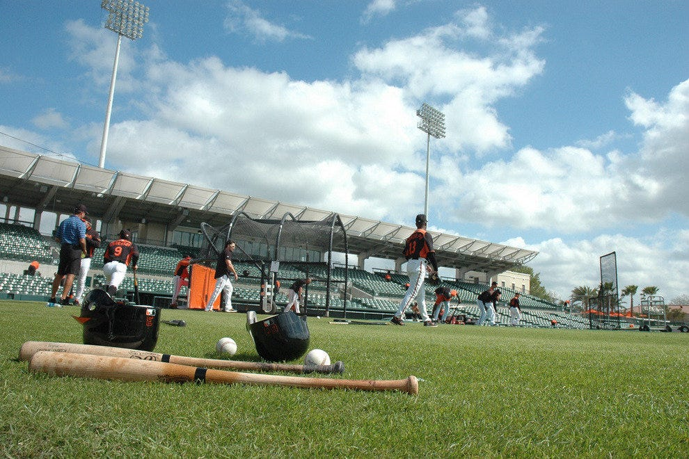 Orioles; spring training is in Sarasota Florida on the Gulf coast each March