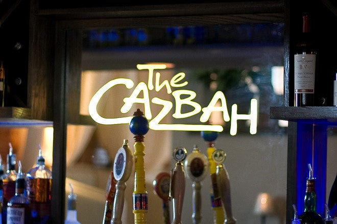 The bar at The Cazbah