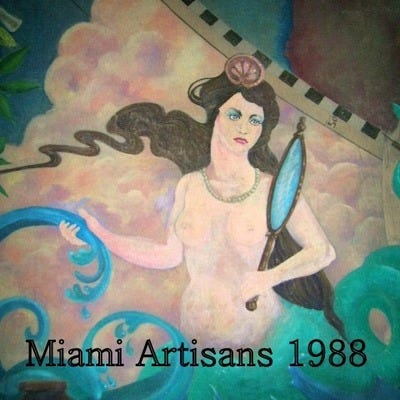 detail of the Freedom Tower Miami Mural recreated in 1988, William Mark Coulthard Wade Foy and John Conroy.Contact  at thuth@freedomtowermiamimural.com