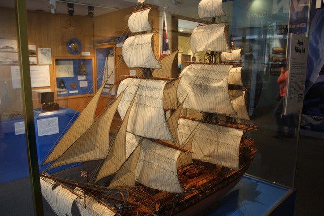 An exhibit at Vancouver Maritime Museum