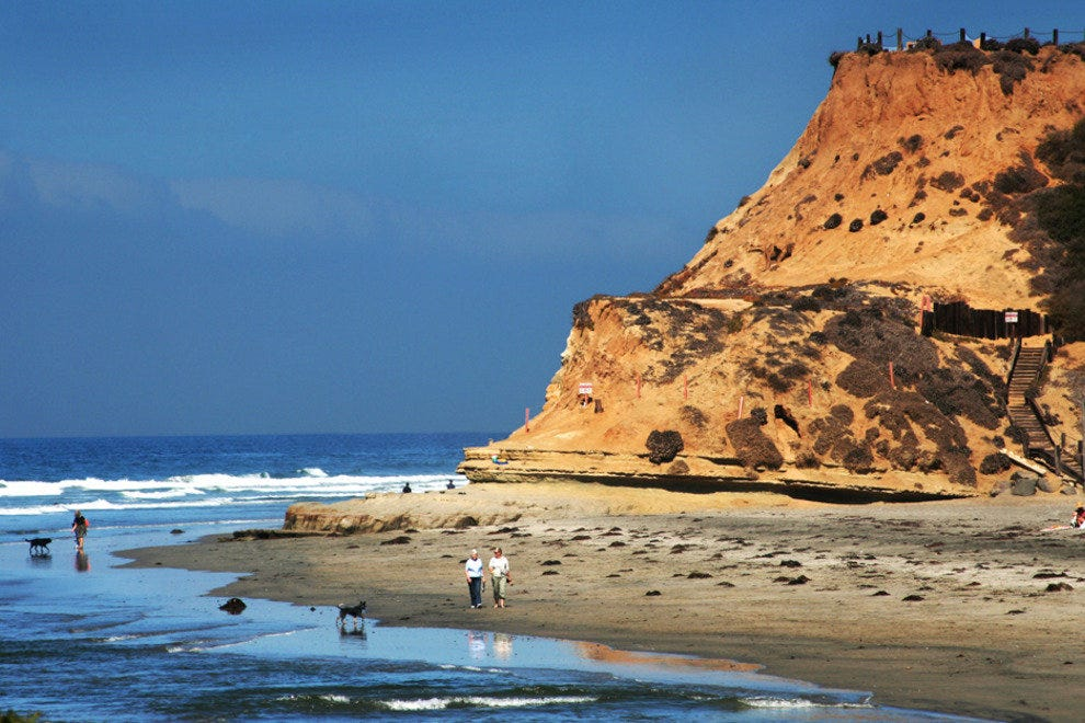 North San Diego's Beaches Feature Rugged Cliffs and Wide Sandy Shores