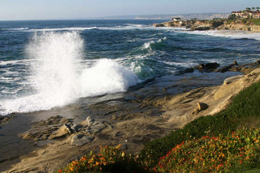 San Diego Beaches, Pounding Waves, La Jolla