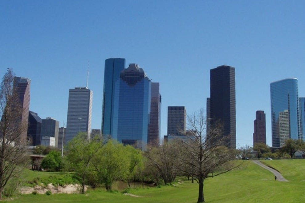 The Houston skyline from Tinsley Park