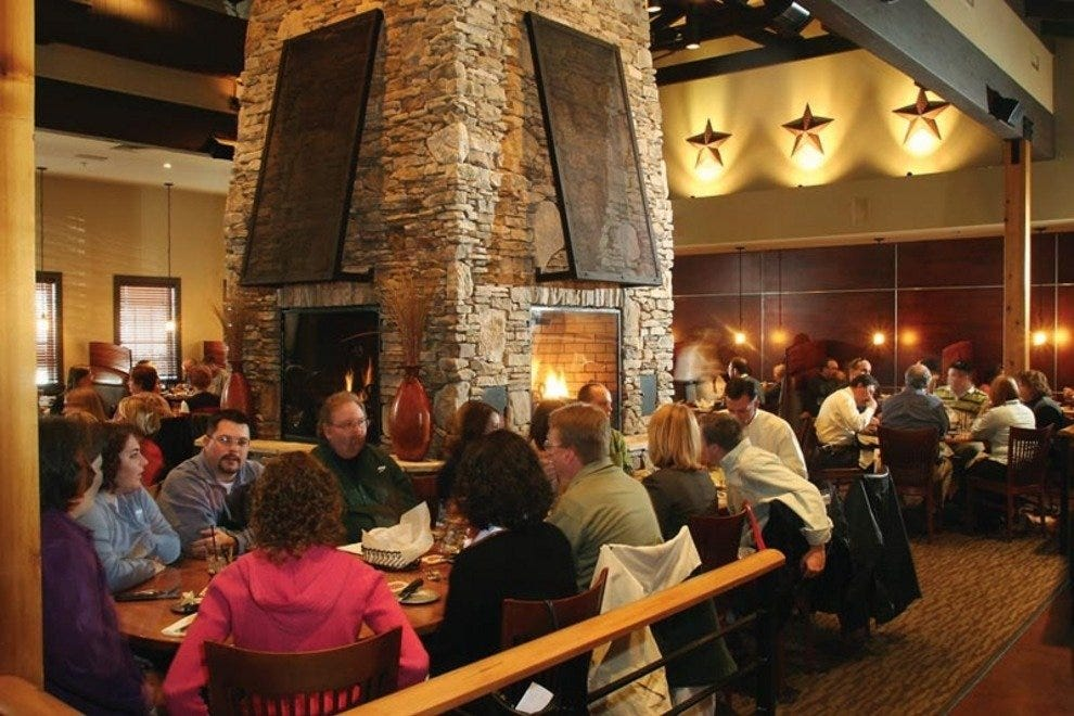 Open Since 1998 This Contemporary Steakhouse Sports A Rustic Interior Of Wood And Stone Peppered With Native American Accents The Dining Room Features