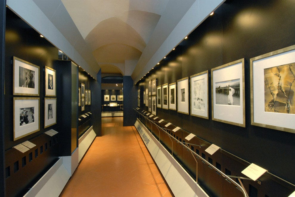 Inside the exhibit space
