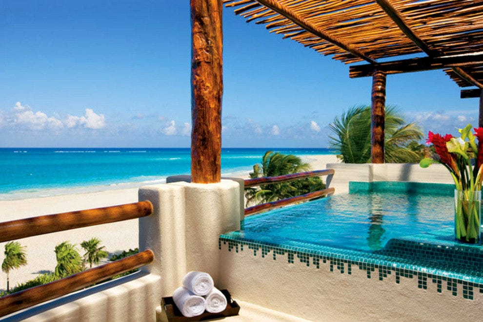 The outstanding view from the Presidential Suite at Secrets Maroma Beach Resort & Spa.