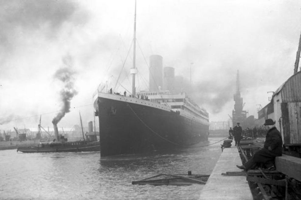 The Titanic set sail from Southhampton, England