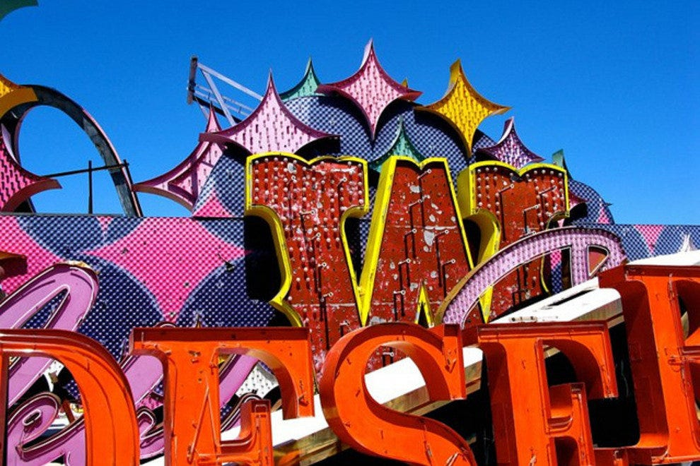 Signs at the Neon Museum's Boneyard