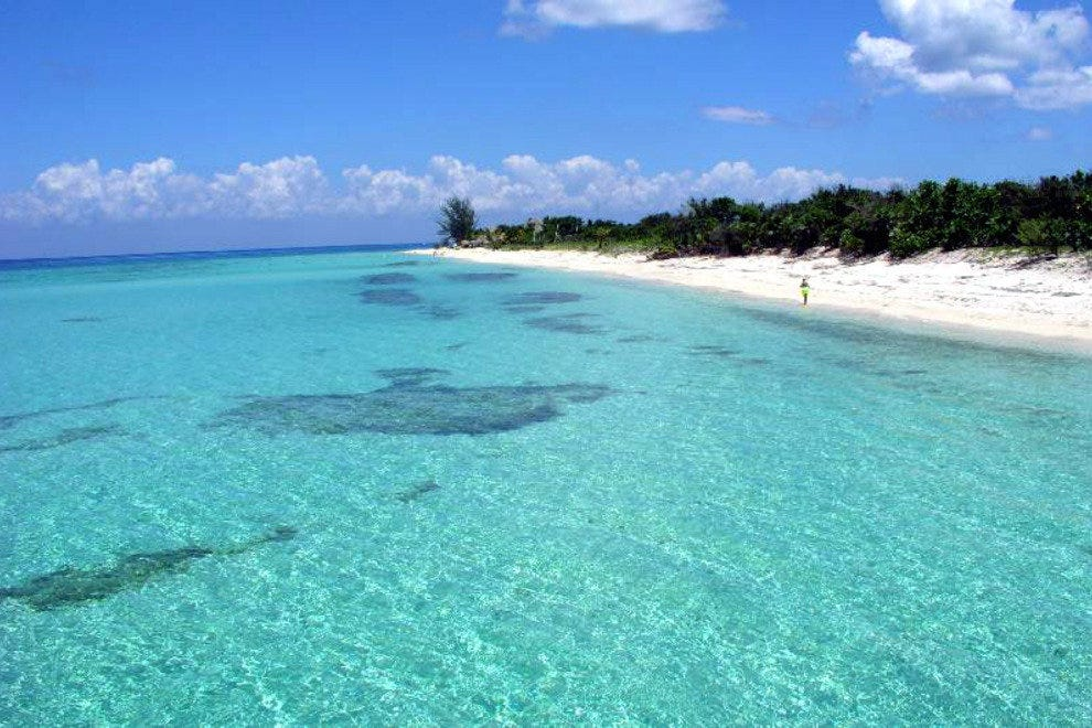 One of Cozumel's pristine beaches.