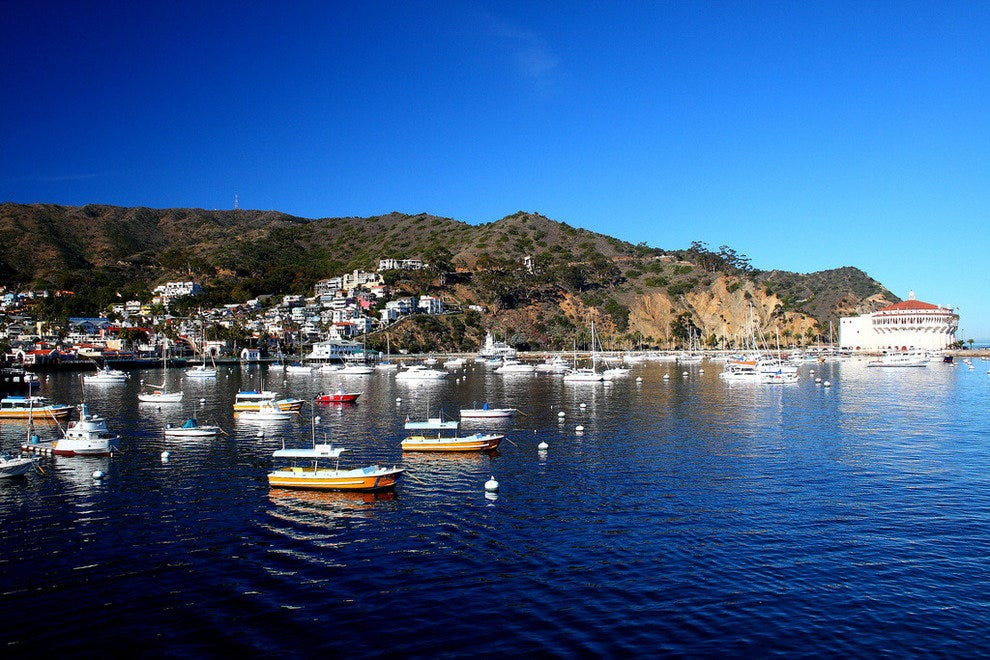 Avalon Bay in Catalina Island near San Diego, California