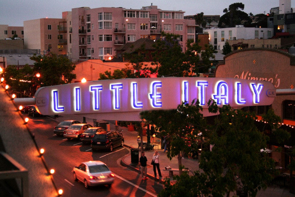 One of San Diego's most historical neighborhoods, Little Italy beckons with its mix of urban chic and Old World ambiance.