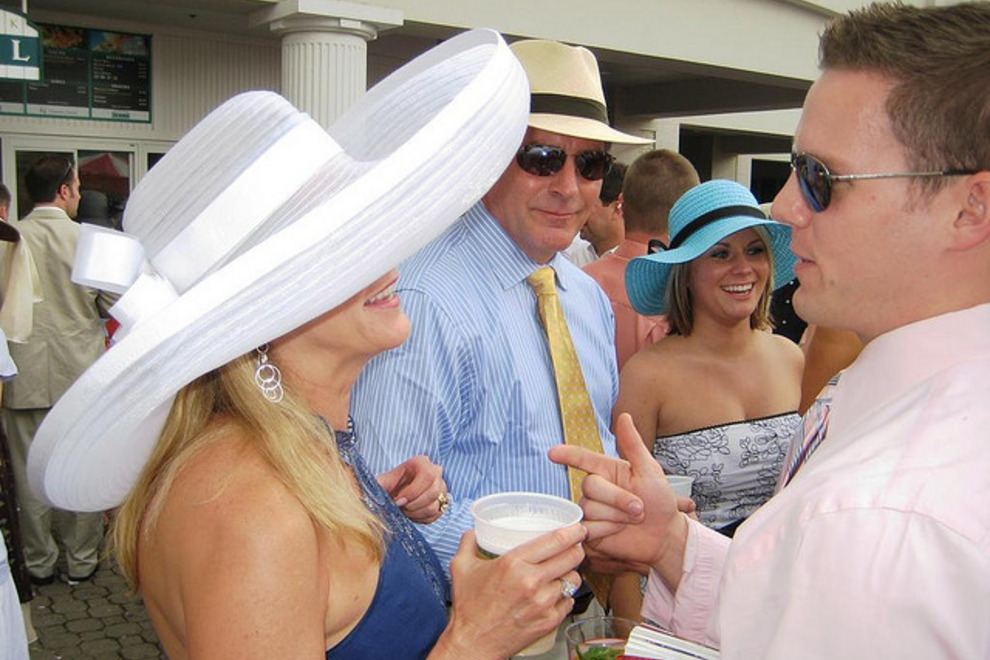 Ladies always wear hats on Derby Day