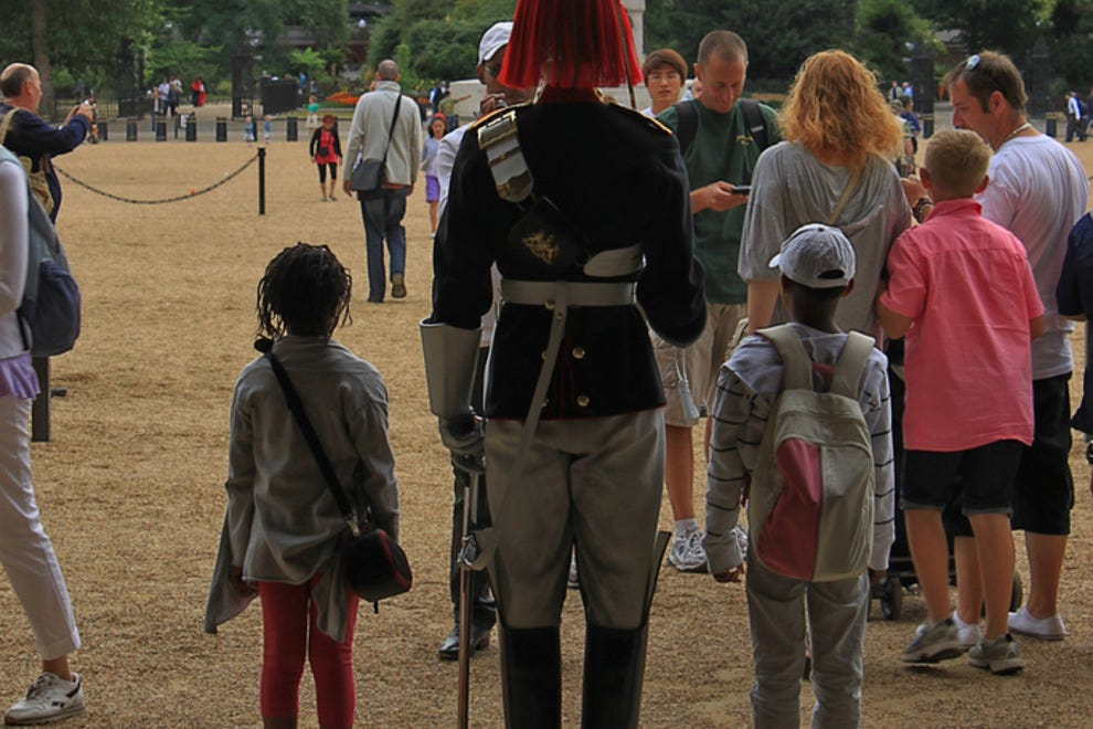 Children aspire to guard at the Horse Guards Parade
