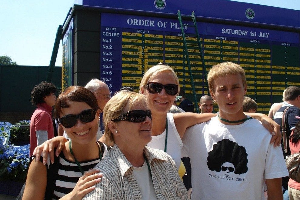 Family time at Wimbledon
