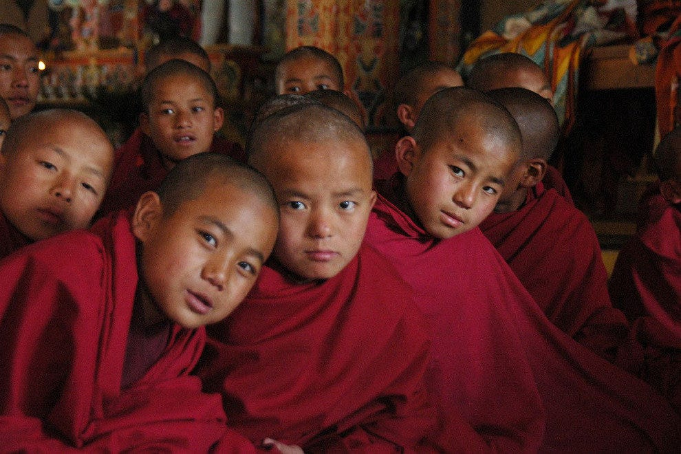 Tibetan monk children