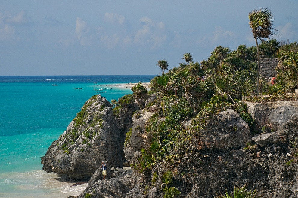 The view from the ruins in Tulum