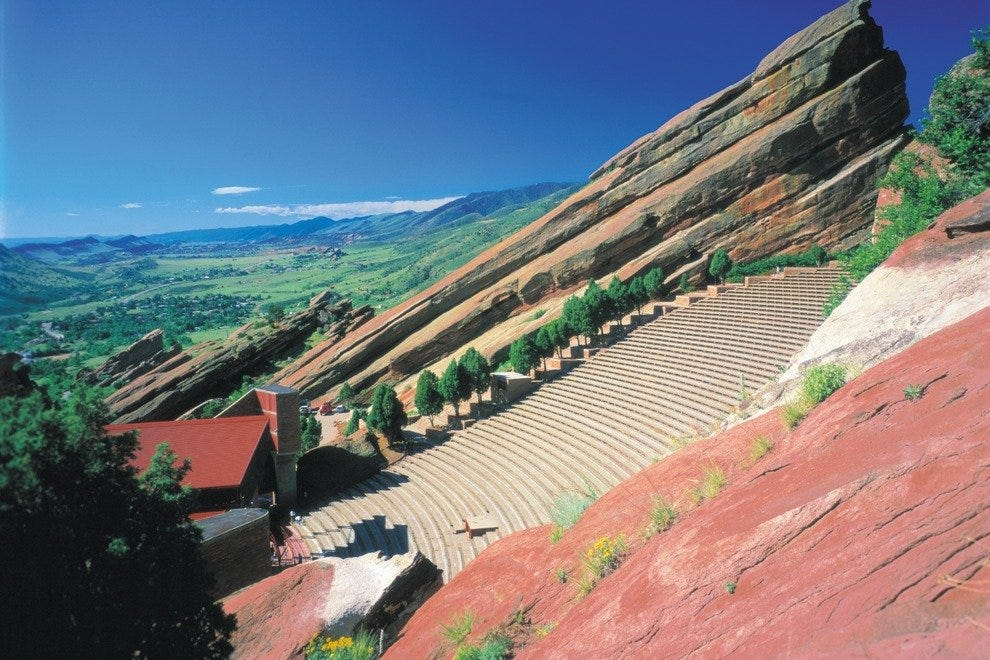 HIke Denver's inspiring Red Rocks Park and Ampitheatre