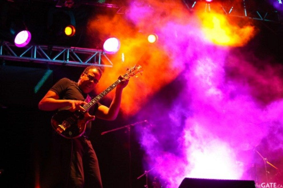 Stanley Clarke performing at Riviera Maya Jazz Festival 2011.