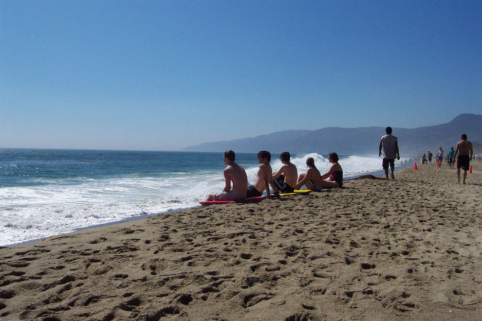 Point Dume in Malibu, a surfing hotspot